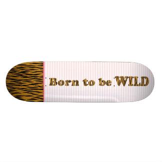 Fött att vara citationstecken & randar för vild | skateboard bräda 20 cm