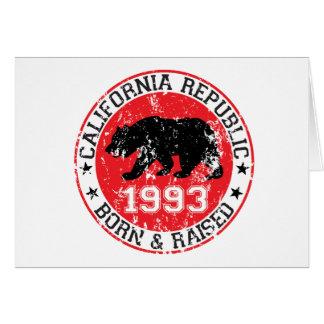 fött för Kalifornien republik som lyfts 1993 Hälsningskort