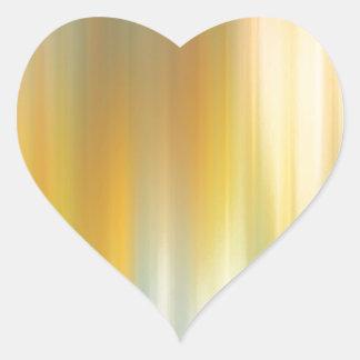 Fotvandra för abstraktfärger hjärtformat klistermärke