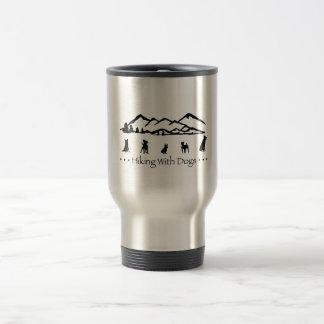Fotvandra med hundtravel mug resemugg