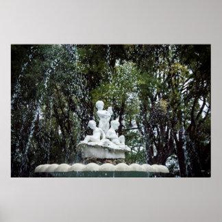 Fountaine i Varna, Bulgarien Poster