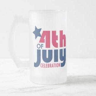 Fourth av den Juli firandemuggen Frostat Ölglas