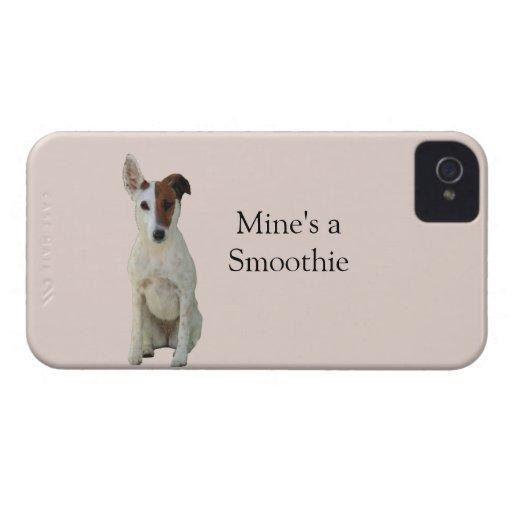 Foxterriern slätar fodral för hundfotoblackberry b iPhone 4 case
