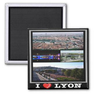 FR - Frankriken - Lyon - jag älskar - Collage Magnet