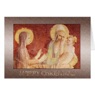 Fra Angelico Madonna och barn Hälsningskort