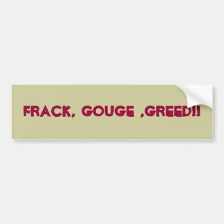 Fracking anpassningsbarbildekal bildekal