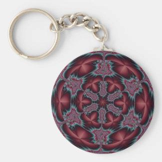 Fractal 12, Keychain Rund Nyckelring