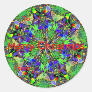 Fractal 63, juletiketter runt klistermärke