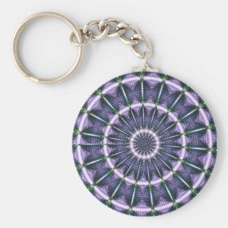 Fractal 7, Keychain Rund Nyckelring