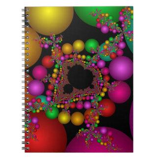 Fractal färgrika Mandelbrot Anteckningsbok Med Spiral