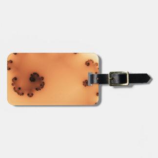 Fractal för persikahavsvecka bagagebricka