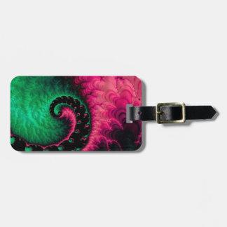 Fractal för rosagröntsvart bagagebricka