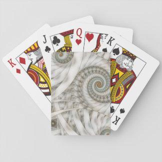 """Fractal för spiral """"för Translucency"""" pastellgrönt Spel Kort"""