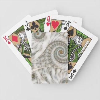 """Fractal för spiral """"för Translucency"""" pastellgrönt Spelkort"""