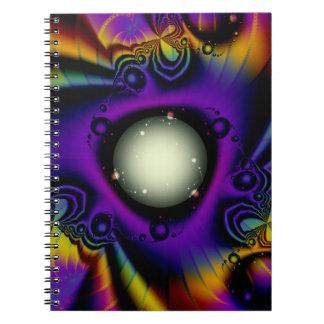 Fractal nyckeln anteckningsbok med spiral
