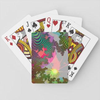 Fractalbaksida som leker kort casinokort
