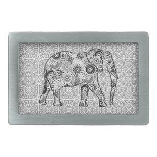 Fractalen virvlar runt elefanten - grå färg som är