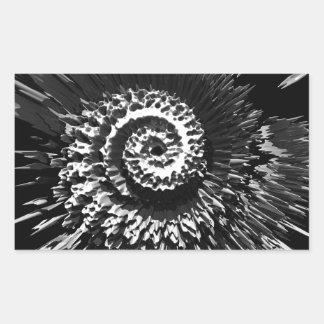 Fractalen virvlar runt rektangulärt klistermärke