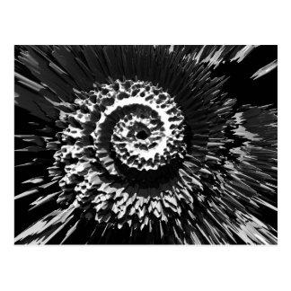 Fractalen virvlar runt vykort