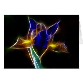 fractaliusblåttlilja hälsningskort