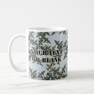 Fractalkamouflage - vinter kaffemugg
