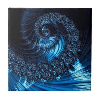 Fractalspiral - dator-frambragd abstrakt avbildar kakelplatta