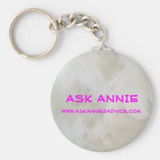 Fråga Annie Keychain Rund Nyckelring