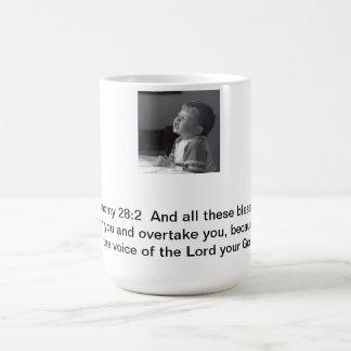 Fråga för välsignelser kaffemugg