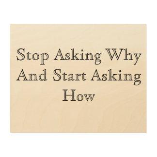 Fråga hur trätavla