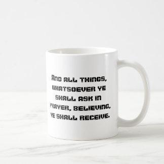 Fråga i bön kaffemugg