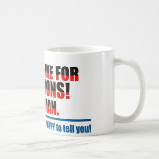 Fråga inte mig för riktningar! kaffemugg