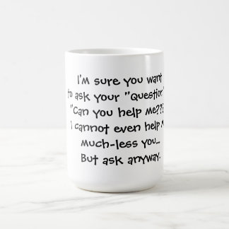 Fråga mig kaffemugg