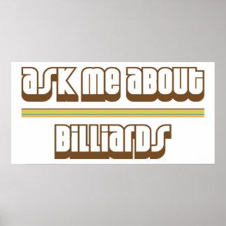 Fråga mig om biljard poster