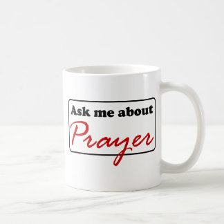 Fråga mig om bön kaffemugg