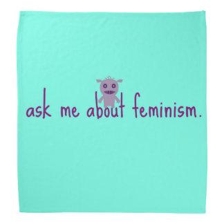 fråga mig om feminismbandana kerchief för huvud
