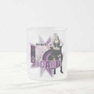 Fråga mig, om jag att bry sig - den frostade Glass Frostad Glasmugg