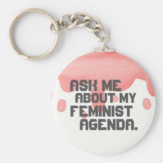 Fråga mig om min feministiska dagordningnyckelring rund nyckelring