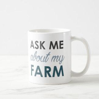 Fråga mig om min lantgårdmugg kaffemugg