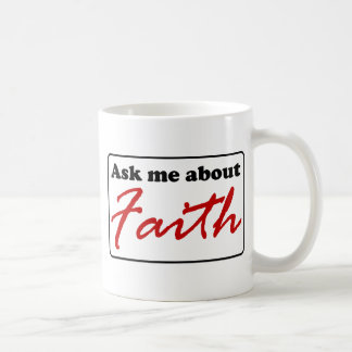 Fråga mig om tro kaffemugg