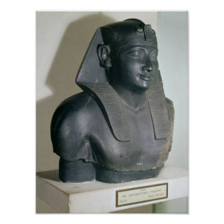 Fragment av en egyptisk stilstaty av Ptolemy mig Poster
