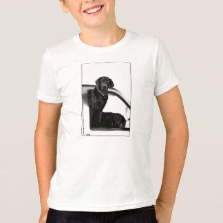 Frågvisa svart labbmanar T-tröja Tshirts