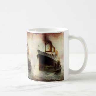 Frakt för vintage resortransportkryssning på havet kaffemugg