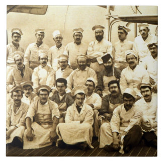 Frakt kockar ombord R.M.S.EN Teutonic (b/W.P. Kakelplatta