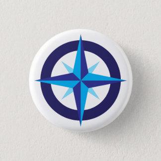 Frakt kompassstjärnan knäppas mini knapp rund 3.2 cm