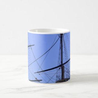 Frakt masts och rigging kaffemugg