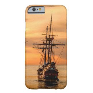 Frakt på havet på fodral för solnedgångcelltelefon barely there iPhone 6 skal