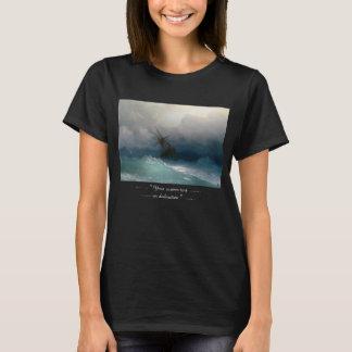Frakt på stormig storm för havsIvan Aivazovsky Tee Shirts