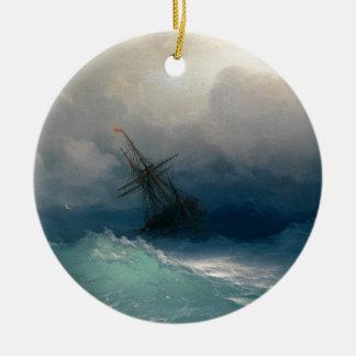 Frakt på stormiga hav, Ivan Aivazovsky - Julgransprydnad Keramik