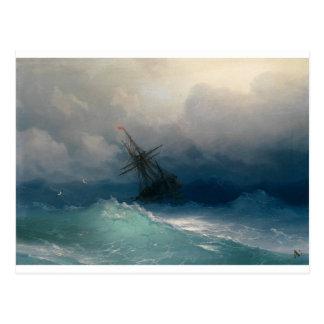Frakt på stormiga hav, Ivan Aivazovsky - Vykort