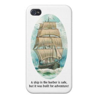 Frakten i hamnen är säker men byggd för äventyr iPhone 4 cases